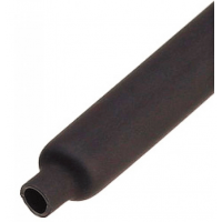 Термоусадка ф10х5 черная метражом 1 м