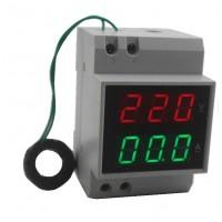 Амперметр вольтметр D52-2042-3 на din рейку