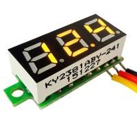 Вольтметр 5-30В цифровой желтый 3 провода