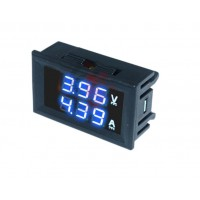 Амперметр вольтметр 5-30В 10А синий
