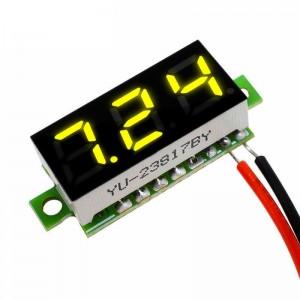Вольтметр цифровой zc21400 желтый