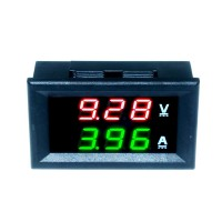 Амперметр вольтметр 5-30В 10А краснозеленый
