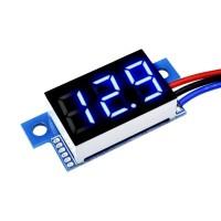 Вольтметр 5-30В цифровой синий 3 провода