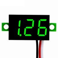 Вольтметр 5-30В цифровой зеленый 3 провода