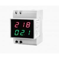 Амперметр вольтметр 80  - 300 Вольт D52-2042-1 на din рейку