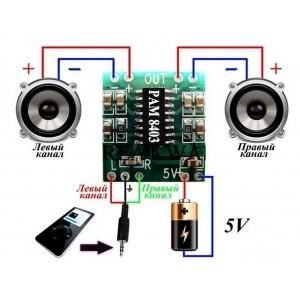 Купить усилитель мощности на pam8403 с доставкой