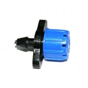 Форсунка для капельного полива регулируемая синяя 70 литров в час
