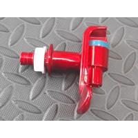 Кран красный кулера холодной воды с наружной резьбой